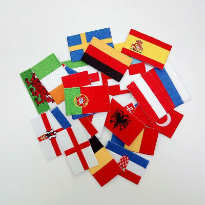 Ecusson Drapeau National Flag Thermocollant Iron on/ Sew on Patches 6.35 x 3.8cm