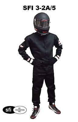 Nascar Racing Driving Fire Suit Sfi 3.2A/5 One Piece , Double Layer Adult Large