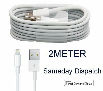 Extra Long 2M USB LEAD SYNC DATA CABLE CHARGER FOR iPhone 8 7 6 PLUS 5 5S iPad