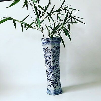 """SUPERB CHINESE Style BLUE AND WHITE PORCELAIN 15"""" VASE"""