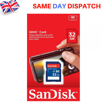 NEW Sandisk 32GB SDHC Memory Card HD Video Class 4