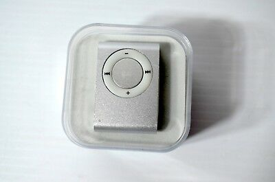 Mini Metal Clip MP3 Player W/ Earbuds, Charging Cable BUNDLED ITEMS
