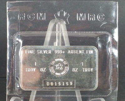 ROYAL CANADIAN MINT RCM 1 OZ. .999 SILVER BARS Consecutive Serial #'s D015159/60