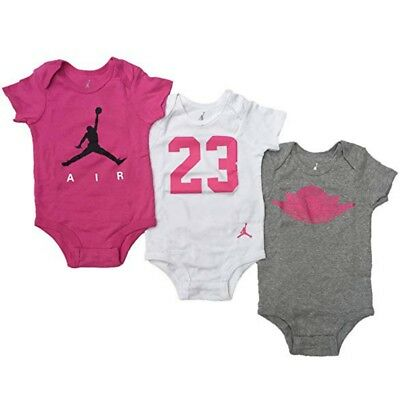 reputable site 432c0 98201 Nike Jordan Baby Jumpman Air Body Bodysuit Set 3Stück Infant Mädchen Set  0-6Mon