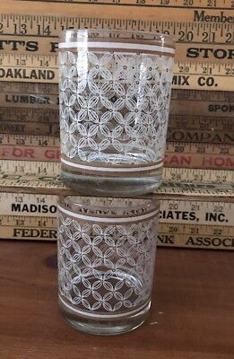 Beautiful Set of 2 Georges Briard Signed Bar Whiskey Glasses! Hard To Find MCM
