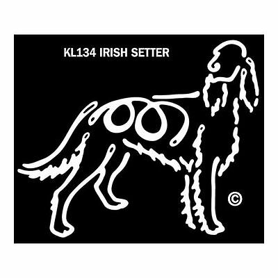 Irish Setter Dog K-Lines Dog Car Window Tattoo Decal Sticker