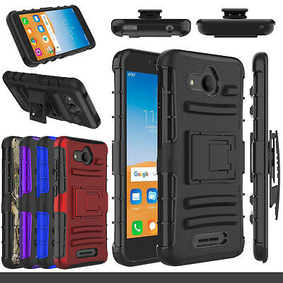 For Alcatel Tetra 6753B / 5041C Holster Clip Stand Shockproof  Rugged Case Cover