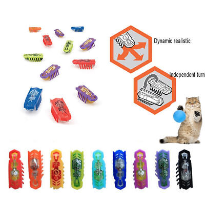 Electric Cat Play Hex bug Toy Plastic Funny Teasing Cats Robotic Insect Hexbug