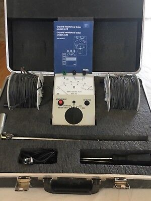 AEMC 3610 Ground Resistance Tester Kit complete with carrying case
