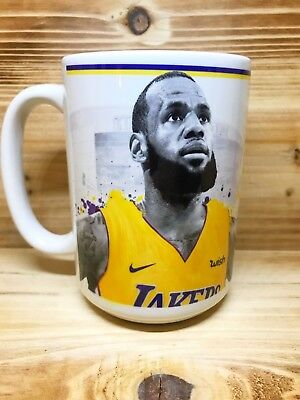 Personalized Lebron James Lakers 15oz Coffee Mug w/Your Name Added FREE