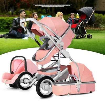 New style Baby Stroller 3 in 1 High Landscape Pram foldable pushchair Car Seat