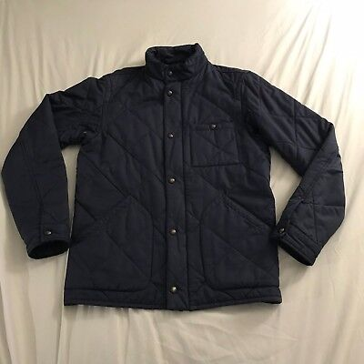 J Crew Mens Broadmoor Quilted Jacket with Thermore Insulation Small Navy Blue