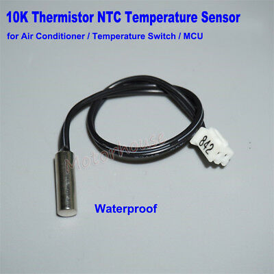 Waterproof 10K Thermistor NTC Temperature Sensor for Air Conditioner Controller