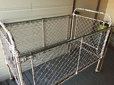 Antique Cot 1920's. Perfect for display. Collectable & rare to find.