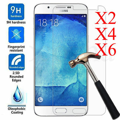 6PC 9H Premium Tempered Glass Screen Protector For Samsung Galaxy J5 J3 J7 2017