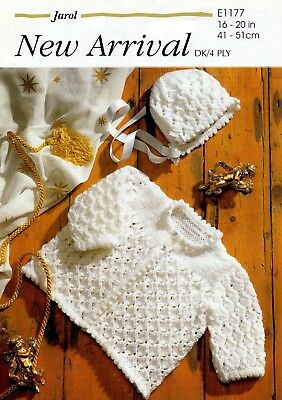 """""""COPY""""  Jarol-E 1177  Baby Clothes Knitting Pattern  Inst. for both 4 & 8 Ply"""