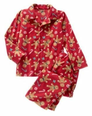 NWT Gymboree Christmas Fleece Pajamas Set Boys Girls Gingerbread Holiday