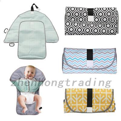 Waterproof Baby Diaper Changing Mat Travel Home Change Pad 3 in1 Organizer Bag