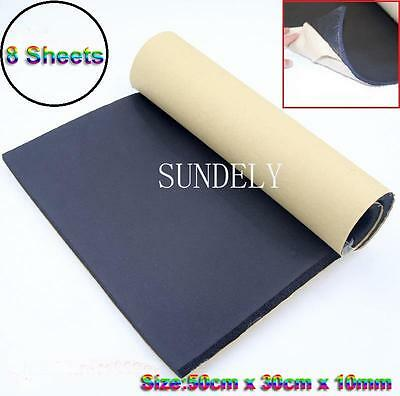 8 Sheets Car/Van Sound Proofing Deadening Insulation 10mm Closed Cell Foam