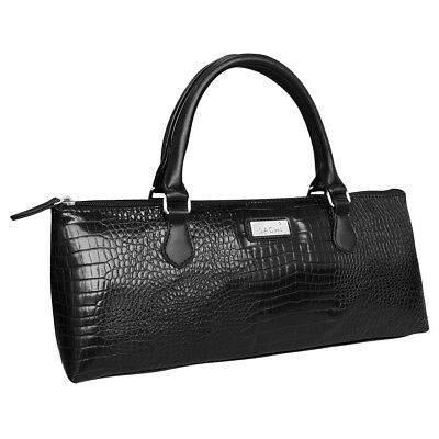 NEW Sachi Insulated Wine Purse Crocodile Black