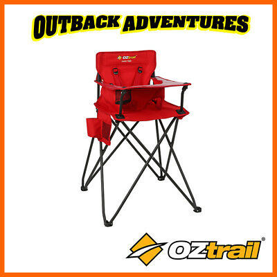 Oztrail Junior High Chair Red Baby Camping Outdoor 80Kg Rated New Model 2019
