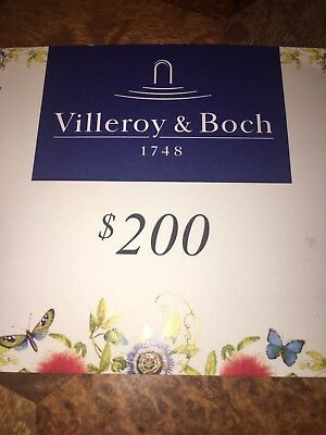 $200 Gift Certificate to Villeroy & Boch for $100 - Must See!