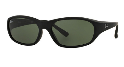 0fd00cf7338 New Ray Ban Sunglasses RB2016 601S 71 DADDY-O Matte Black Green lens Fast