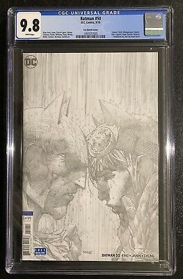 Batman 50 Jim Lee Sketch 1 In 100 Cover Catwoman 2018 Cgc 9.8 Not Pgx Cbcs