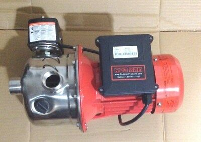 Red Lion RJS-75SS Stainless Steel Shallow Well Jet Pump 115V     3/4 HP