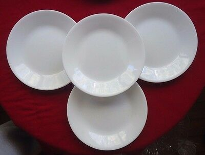 Lovely Corelle Corning USA Bread & Butter Side Plates x 4 *White