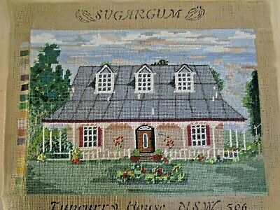 Craft Tapestry Colonial House Completed & Framed