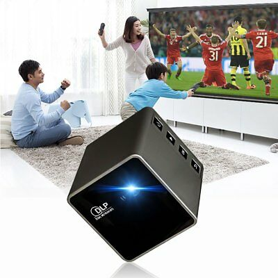 1080P HD Mini LED Portable Theater Pocket DLP TF Multimedia Video Projector LO