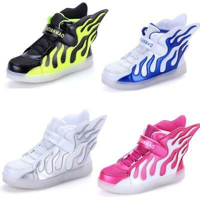 Upgraded Boys Girls Wing LED Light up Luminous Sneakers for Kids Casual Shoes