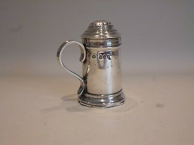 Antique Edwardian Hallmarked Silver 1913 Dredger/pepper Pot/shaker