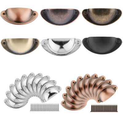 10Pcs Retro Cupboard Door Cabinet Cup Drawer Furniture Antique Pull Shell Handle