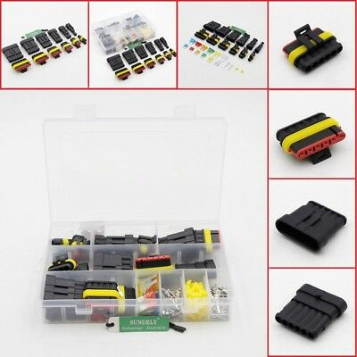 Car Waterproof Electrical Connector Terminal 1//2//3//4//5//6 Pin Way+Fuses With Box