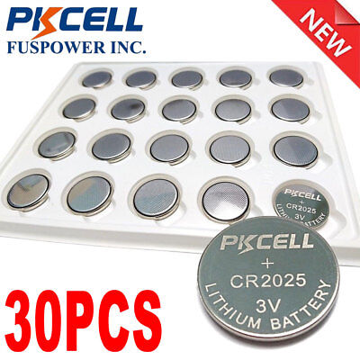 30x Button Coin Cell 3V CR2025 BR2025 DL2025 Lithium Battery EXP. 2023 For Watch