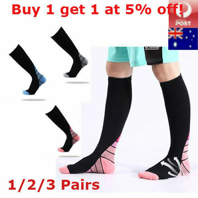 15-30mmHg Medical Compression Socks Support Foot Travel Flight Sports Stockings