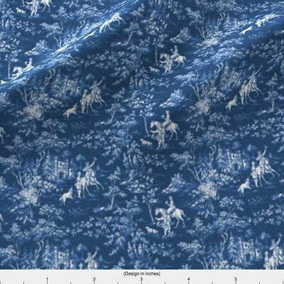 Toile Hunt English Antique Fabric Printed by Spoonflower BTY