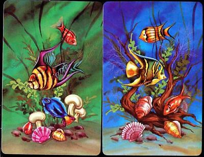 Tropical Fish Pair Of Swap Cards Mint Condition Bright Colours (Brand New)