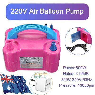 High Voltage Double Hole Inflatable Electric Air Blower Balloon Pump Portable AU