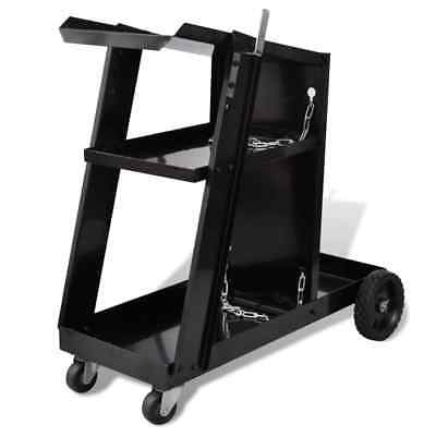 Welder Welding Cart Trolley & 3 Shelves Workshop Organiser Plasma Cutter Storage