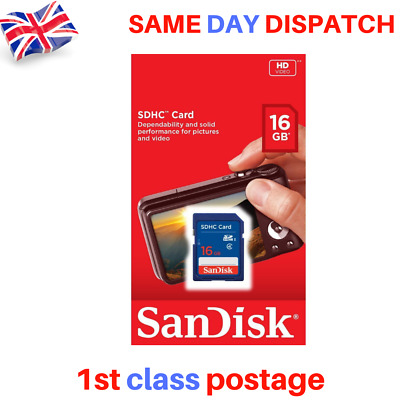NEW Sandisk 16Gb SDHC SD Memory Card Class 4 HD Video