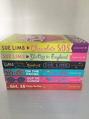 Sue Limb Collection -6 Books- (Flirting for England, Chocolate sos, NEW FREE P&P