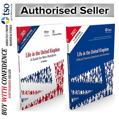 Latest Life in the UK United Kingdom 2020 Citizenship Test Book 2 Books set-LfQA