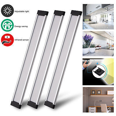 3 Pcs Dimmable Under Cabinet Lighting Linkable Counter Kitchen LED Light Strip