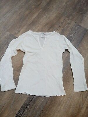 Girls Size Small 7/8 WHITE Long Sleeve Shirt NWOT So Nikki Brand. *New Clothes**