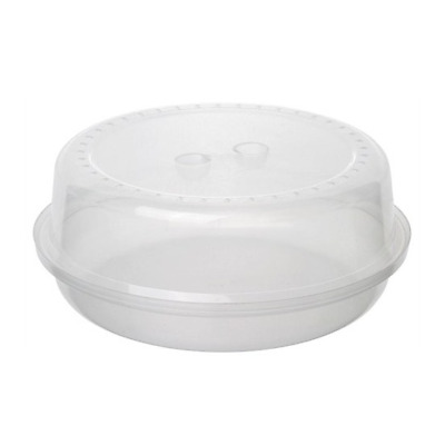 Bora Clear Microwave Bowl with Cover Lid. Ventilated steam Food plate Cover Lid.