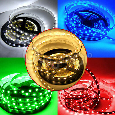 5M 3528 5050 SMD LED Strip RGB Band Lichterkette +44 Keys Fernbedienung+ Adapter
