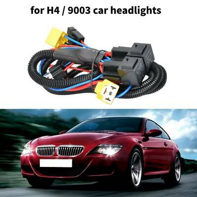H4 Halogen Wire Harness Car Headlight LED Brightness Booster Wiring Harness Kit